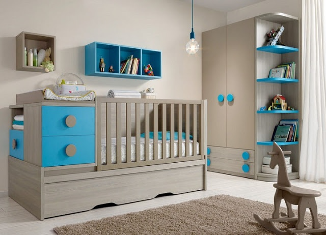 deco chambre bebe garcon gris et bleu. Black Bedroom Furniture Sets. Home Design Ideas