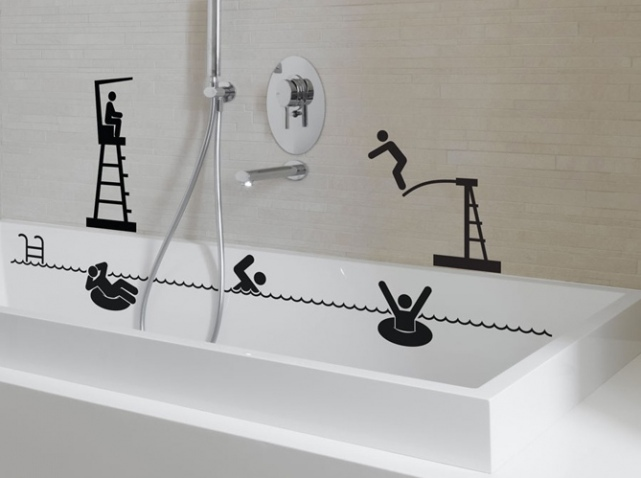 Stickers muraux le guide ultime for Deco salle de bain stickers