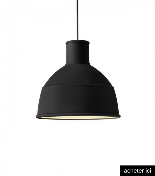 Simple suspension muuto unfold noire with suspension rouge for Suspension rouge cuisine