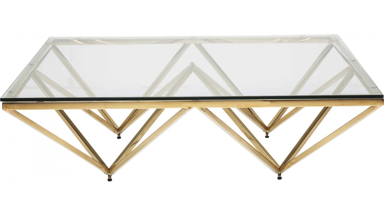 "Table basse design dorée ""Network"""