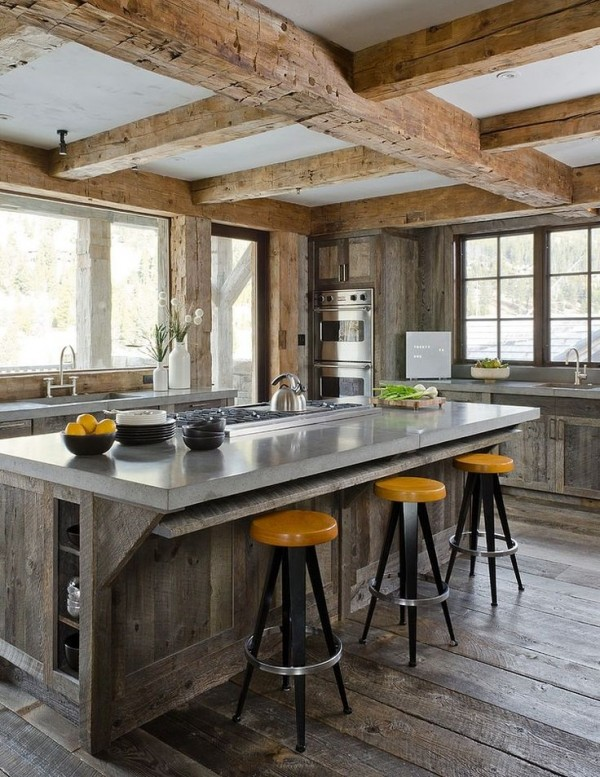 Cuisine rustique 23 id es inspirations photos for Idee di ranch aggiuntive