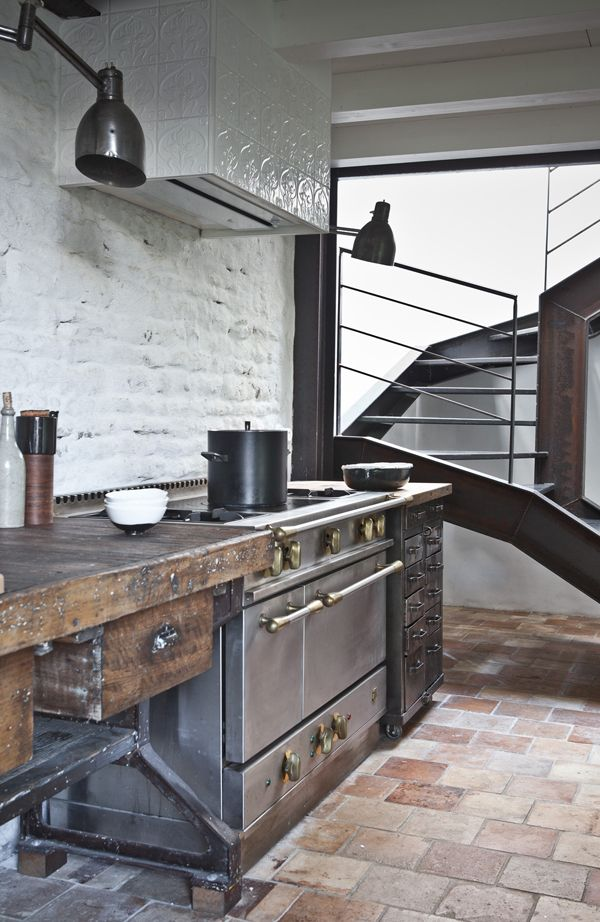 Cuisine rustique 23 id es inspirations photos for Cuisine style industriel loft