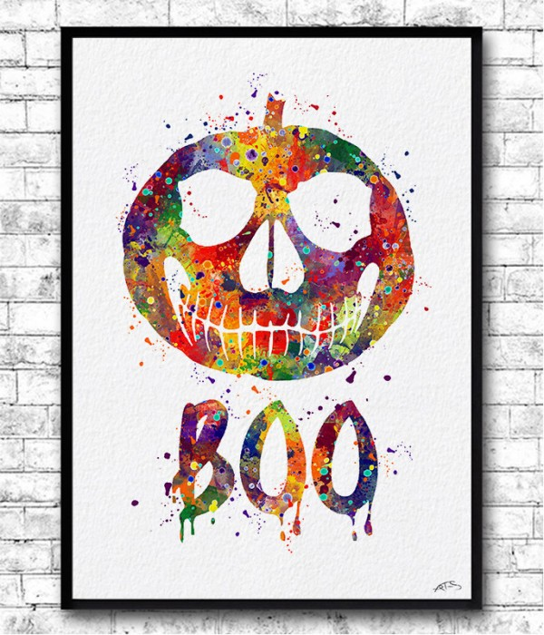 "Poster ""boo"" Halloween"