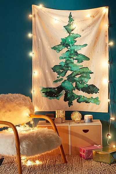 guirlande lumineuse sapin martha stewart living guirlande de sapin hawkins lumineuse de 2 74m. Black Bedroom Furniture Sets. Home Design Ideas