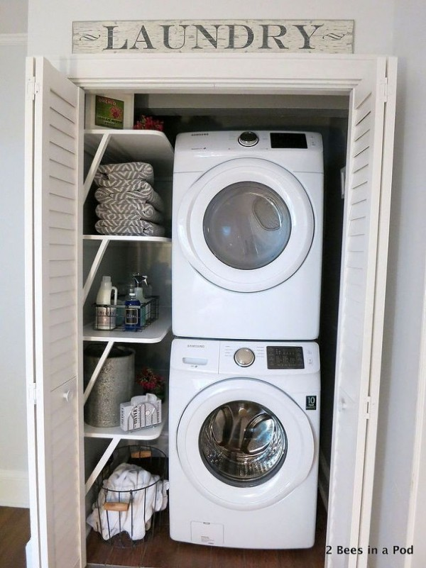 Comment int grer le lave linge dans son int rieur 31 id es - Washer dryers for small spaces ideas ...