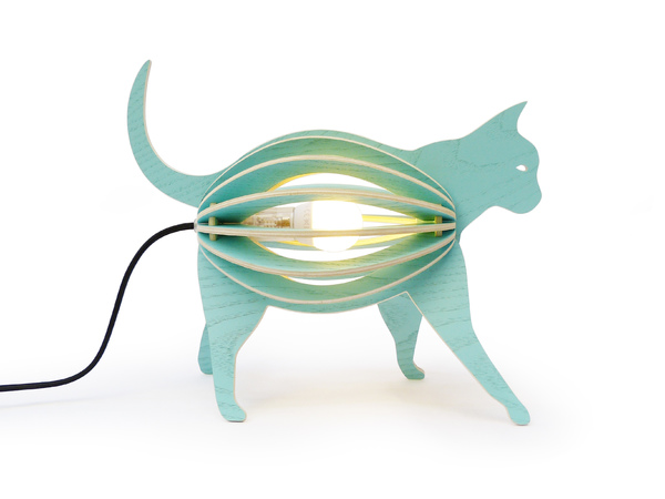 Lampe à poser chat