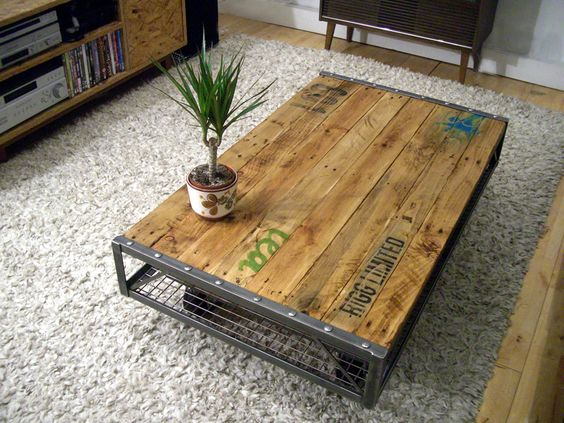 table basse en palette 63 idees