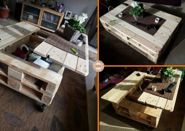 Table basse palette top 69 des id es les plus originales en 2017 - Comment transformer une palette en table basse ...