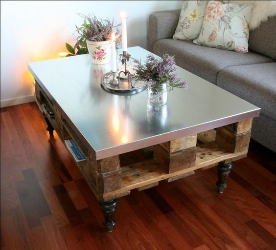 Table basse palette top 69 des id es les plus originales for Table de salon plexiglass