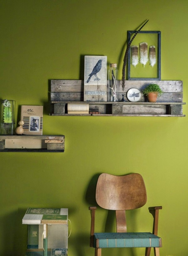 Tag re en palette 19 id es originales copier - Deco etagere murale salon ...