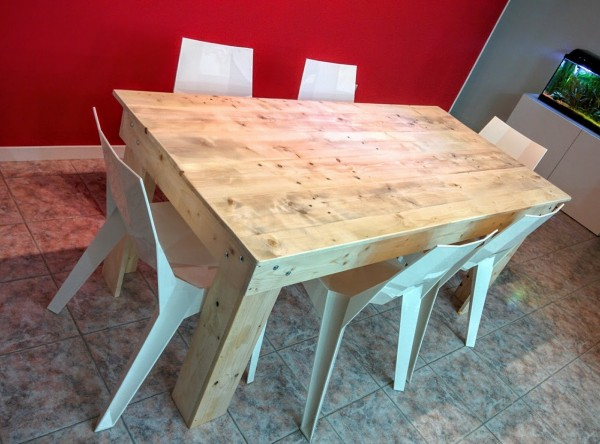 table manger en palette look industriel