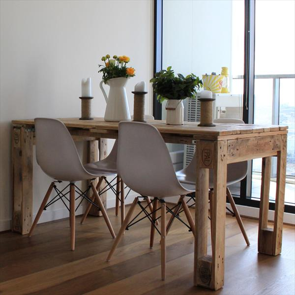 Table en palette 44 id es d couvrir photos - Table a manger scandinave ...