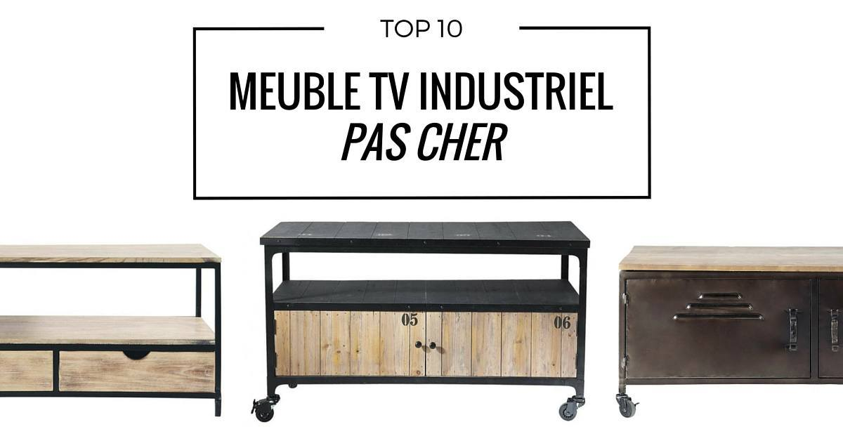 meuble tv industriel pas cher le top10. Black Bedroom Furniture Sets. Home Design Ideas