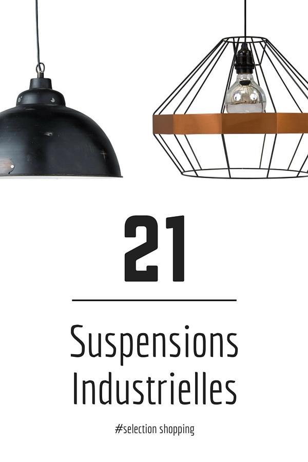 suspensions industrielles 21 id es d co de suspensions. Black Bedroom Furniture Sets. Home Design Ideas