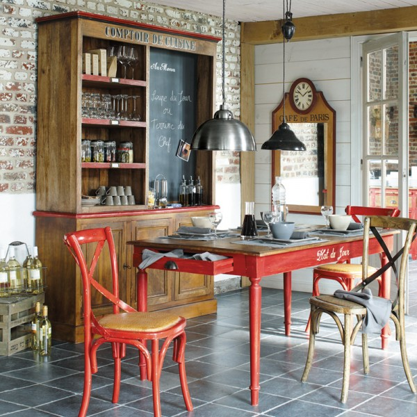 Cuisine bistrot 23 id es d co pour un style bistrot for Appartement deco bistrot