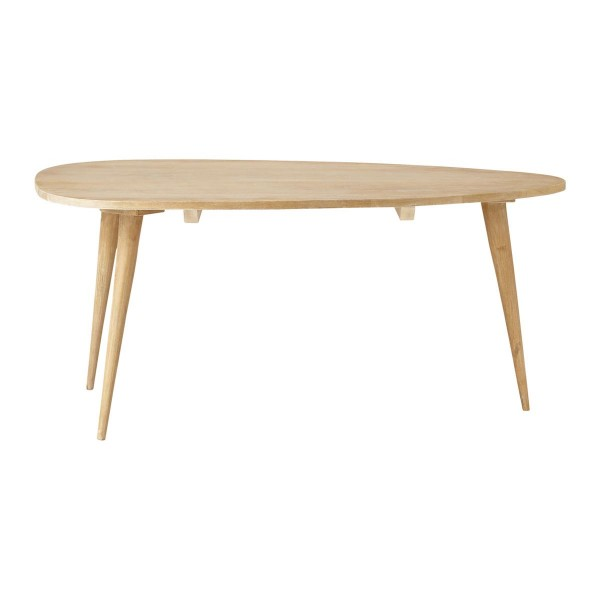 Table basse vintage en bois de manguier massif