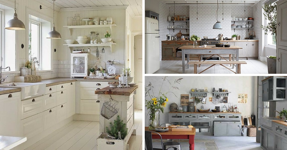 Decoration cuisine campagne chic for Decoration interieur campagne chic