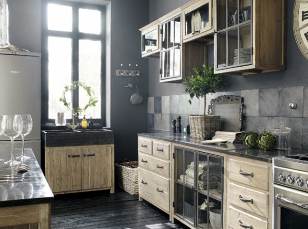 cuisine campagne chic 9 magnifiques id es de d co. Black Bedroom Furniture Sets. Home Design Ideas
