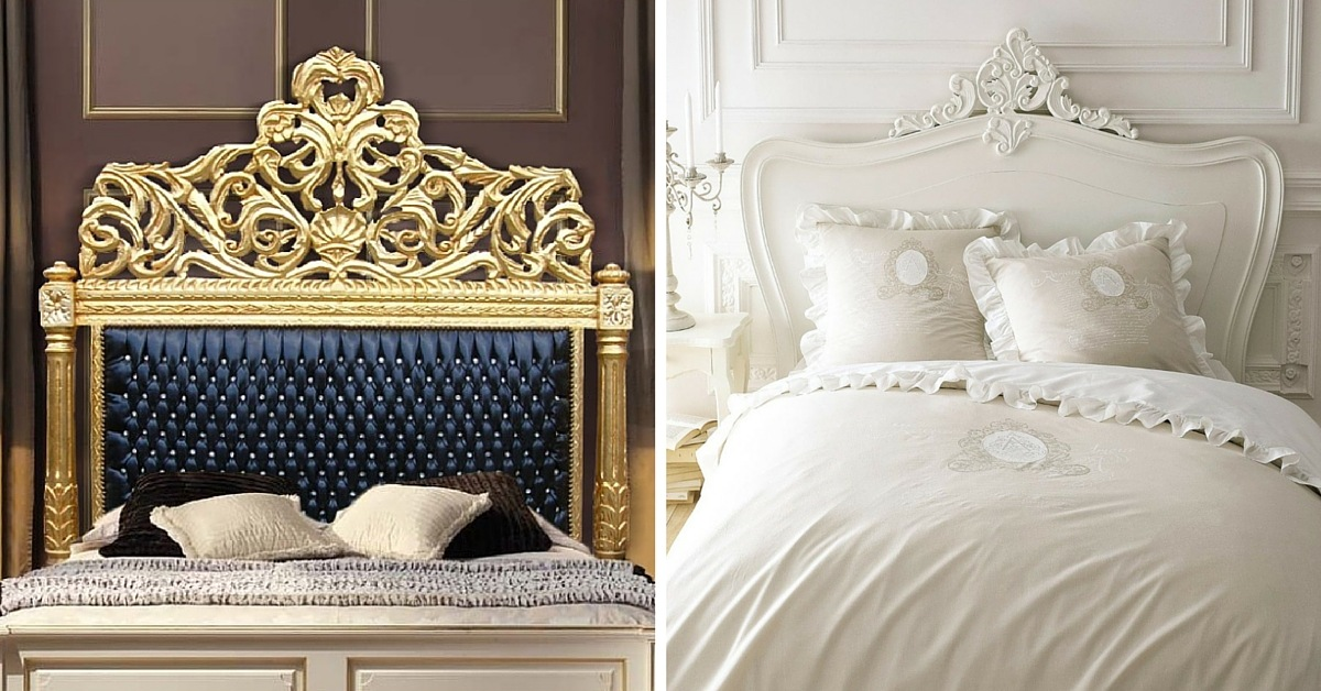 7 t tes de lit baroque pour votre chambre. Black Bedroom Furniture Sets. Home Design Ideas