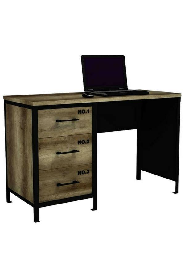 bureau style industriel. Black Bedroom Furniture Sets. Home Design Ideas
