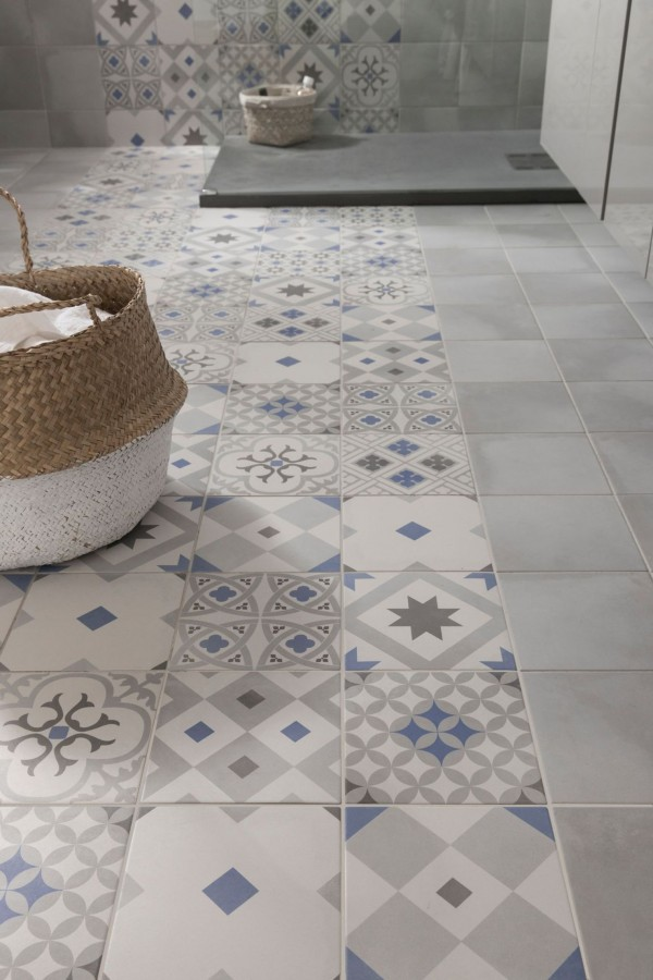 Carrelage imitation carreaux de ciment 7 id es tendance - Imitation carreaux de ciment ...