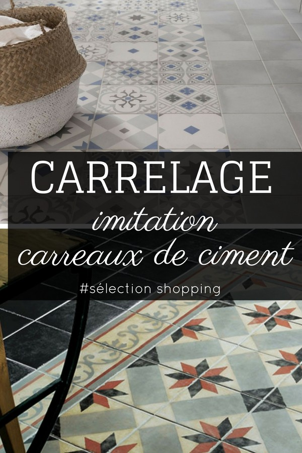 carrelage imitation carreaux de ciment 7 id es tendance. Black Bedroom Furniture Sets. Home Design Ideas