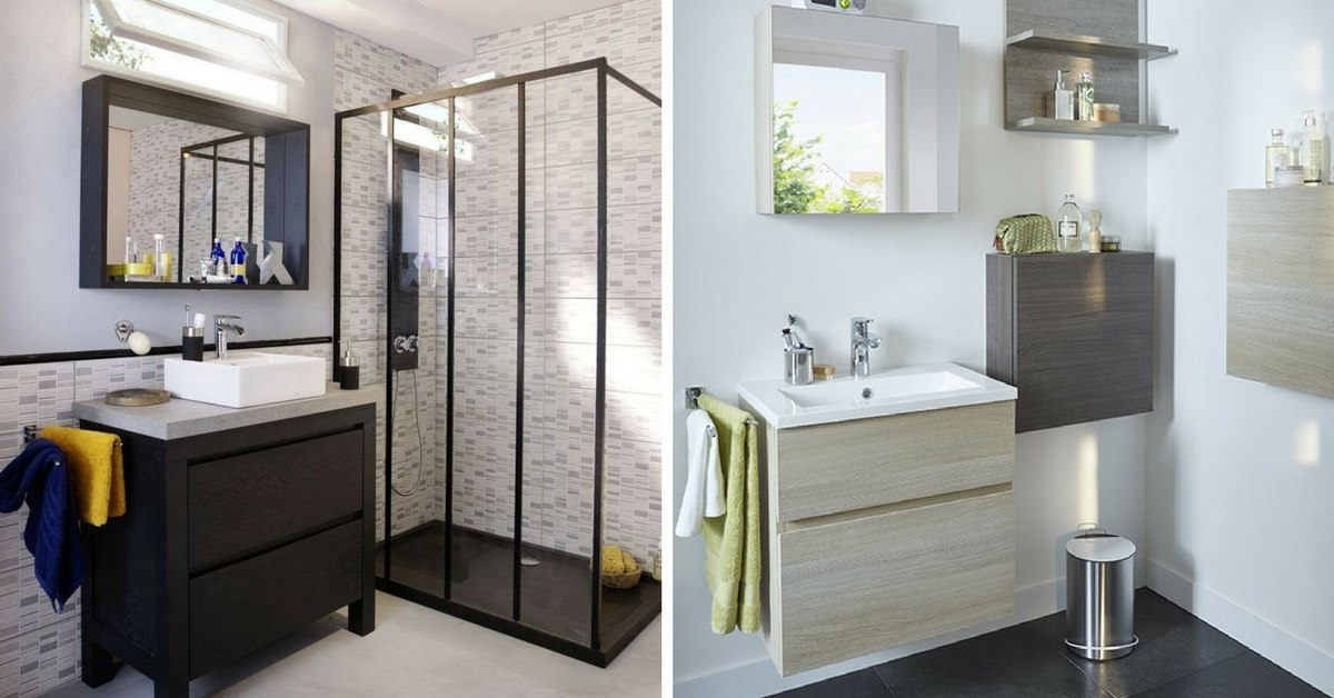 meuble salle de bain gain de place gain de place petite salle de bain sur pinterest with meuble. Black Bedroom Furniture Sets. Home Design Ideas