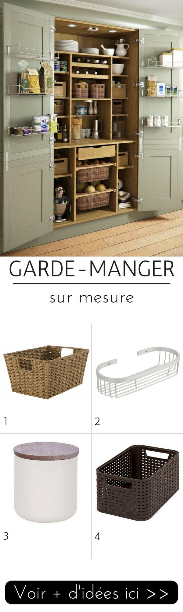 gardemanger sur mesure dans le placard de la cuisine with meuble garde manger cuisine. Black Bedroom Furniture Sets. Home Design Ideas