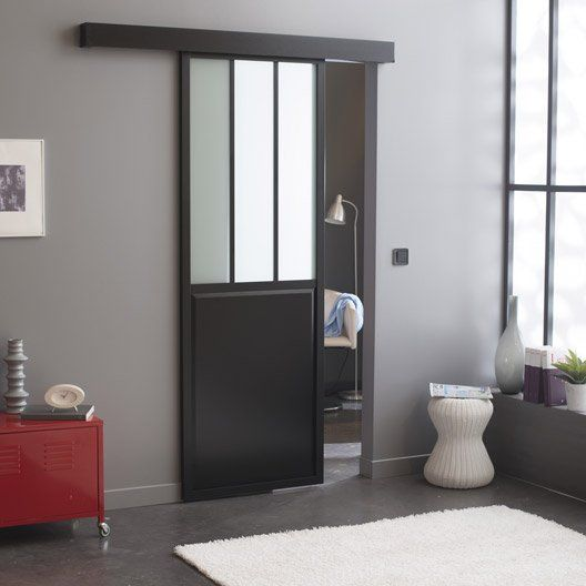 o trouver une porte coulissante atelier style verri re. Black Bedroom Furniture Sets. Home Design Ideas