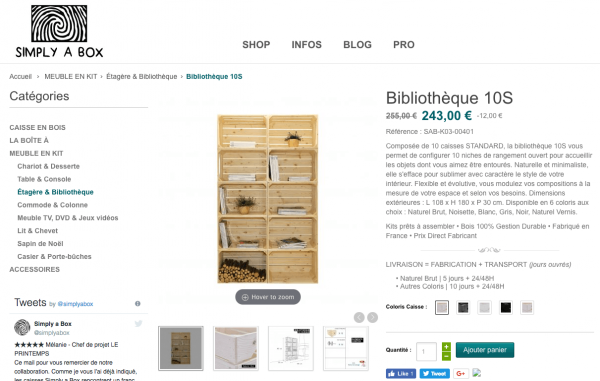 simply a box test avis des kits de caisses en bois. Black Bedroom Furniture Sets. Home Design Ideas